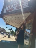 Pretending to be in La La Land at the Rialto Theater
